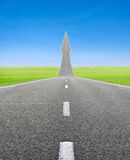 Highway road going up as an arrow Royalty Free Stock Image