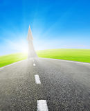 Highway road going up as an arrow Royalty Free Stock Photo