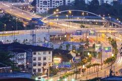 Highway Road on Kuala Lumpur Stock Photos