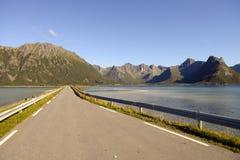 Highway. Road in the Lofoten Islands, Norway royalty free stock photos