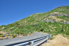 Highway road on Madeira Stock Photo
