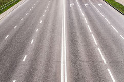 Highway with road markings Royalty Free Stock Images