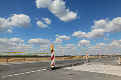 Highway or road in reconstruction Stock Photos