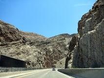 Highway Road through Rocky Mountains Stock Photography