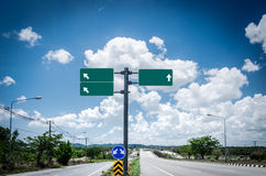 Highway road sign Stock Photo