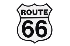 Highway road sign Route 66 Royalty Free Stock Image
