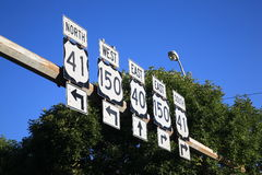 Highway Road Signs Stock Images