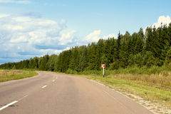 Highway road on the summer trip Royalty Free Stock Photos