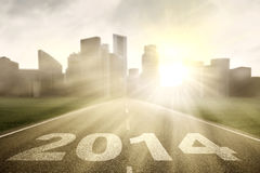 The highway road to new journey in 2014 Stock Photo