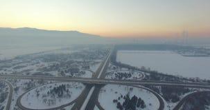 Highway road traffic stock footage