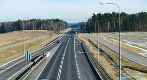 Highway, road, transportation, drive, city, landscape, way, nature, trips, forest, tree Stock Images