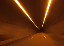 Highway road tunnel Royalty Free Stock Photography