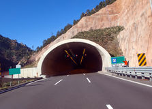 Highway road tunnel Royalty Free Stock Image