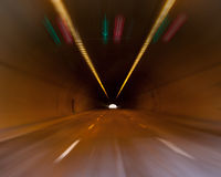 Highway road tunnel Stock Image