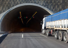 Highway road tunnel Royalty Free Stock Photo
