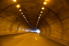 Highway road tunnel Royalty Free Stock Images
