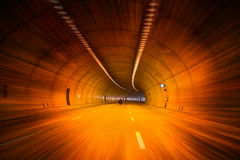 Highway road tunnel Stock Photos