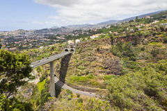 Highway roads on Madeira island, Portugal Stock Images