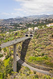 Highway roads on Madeira island, Portugal Stock Photo