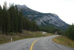 Highway in Rockies Royalty Free Stock Photography