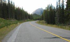 Highway in Rockies Royalty Free Stock Photos