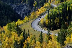 Highway in Rockies Stock Images