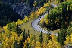 Highway in Rockies stock images