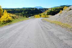 Highway in Rockies stock image