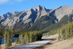 Highway in Rockies Royalty Free Stock Images