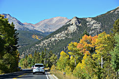 Highway 34, Rocky Mountain National Park Stock Images