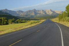 Highway in Rocky Mountains Royalty Free Stock Photos
