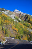 Highway Through the Rocky Mountains in Fall Royalty Free Stock Images