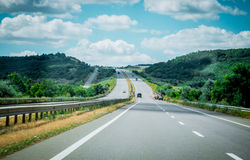 Highway. Route E-95 royalty free stock photography