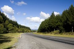Highway in Rural Area Royalty Free Stock Images