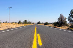 Highway in Rural Central Oregon Stock Photo