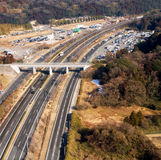 Highway in rurial area of Tokyo, Japan Royalty Free Stock Photography