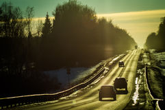 The highway in Russia. Royalty Free Stock Photos