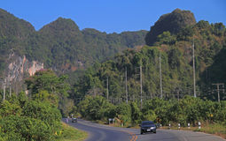 Highway in scenery Krabi province Royalty Free Stock Image