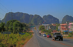 Highway in scenery Krabi province Royalty Free Stock Photography