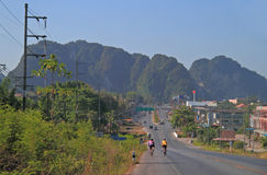 Highway in scenery Krabi province Stock Photography