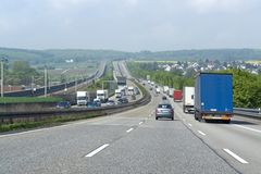 Highway scenery in Southern Germany Stock Image