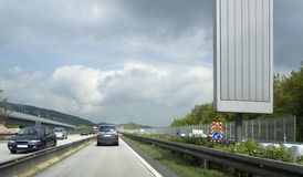 Highway scenery in Southern Germany Stock Photo