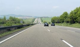 Highway scenery in Southern Germany Royalty Free Stock Photography