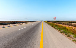 Highway. Scenic view to highway, Nature landscape stock images