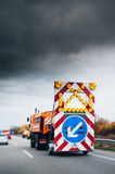 Highway security truck Royalty Free Stock Photos
