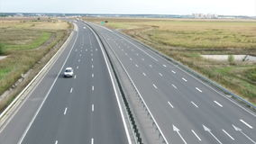 Highway seen from drone stock footage