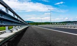 Highway. Sibiu - Deva Highway, Romania, Europe Royalty Free Stock Photography