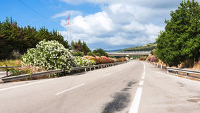 Highway in Sicily in summer day Royalty Free Stock Image