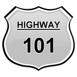 Highway sign Royalty Free Stock Photo