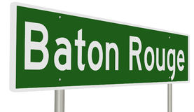 Highway sign for Baton Rouge Louisiana Royalty Free Stock Images